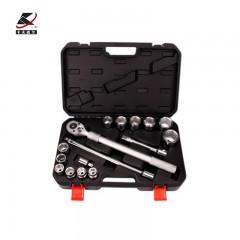 汽修工具套装机修工具箱套筒棘轮扳手组套汽车机械维修箱 16件套卡车套筒