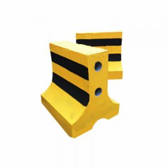 路卫士水泥隔离墩道路水泥墩防撞墩防撞桶隔离墩水马护栏交通设施 50x60黄黑