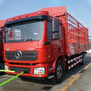陕汽重卡 德龙L3000 220马力 4X2 6.75米排半仓栅式载货车