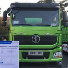 陕汽重卡 德龙新M3000 轻量化版  336马力 8*4  7.2米LNG自卸车